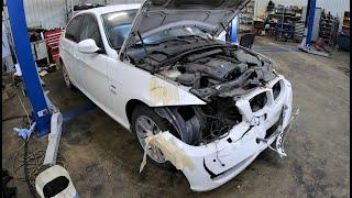 Скрытые повреждения BMW E90 по детальный разбор