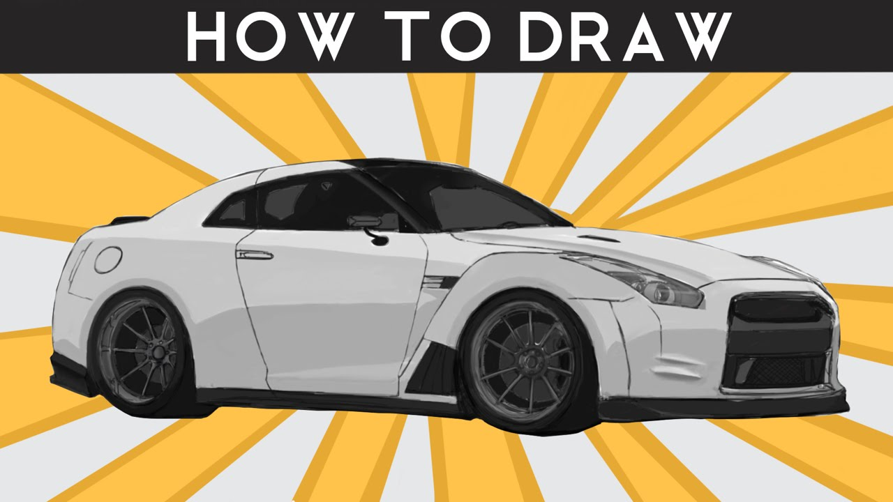 HOW TO DRAW a Nissan R35 GTR - Step by Step | drawingpat ...