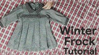Stylish Winter Baby Frock Cutting and Stitching in Urdu/Hindi