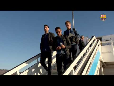 FC Barcelona arrive in Bilbao ahead of Copa del Rey clash