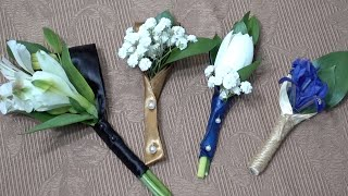 How to Make Boutonnieres Without Glue or Wire