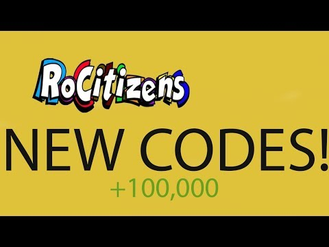 Rocitizens Roblox Codes Working December 2017 January 2018