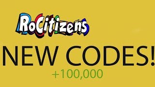 RoCitizens: Roblox [CODES] WORKING! DECEMBER 2017/JANUARY 2018