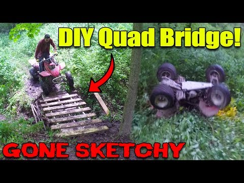 ATV FLIPPED HARD!! (DIY Quad Bridge & Trail Riding)