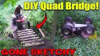 ATV FLIPPED HARD!! (DIY Quad Bridge & Trail Riding)