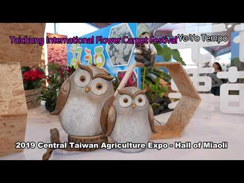 2019 Central Taiwan Agriculture Expo Hall Of Miaoli Taichung International Flower Carpet Festival Youtube