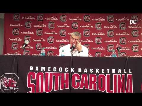 USC coach Frank Martin's comments after loss to Arkansas #sports