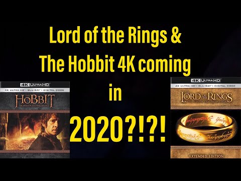 The Lord Of The Rings The Hobbit Coming To 4k In 2020 Youtube