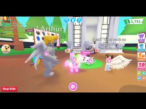 Adopt Me : With Star : Walking Around On Neon Unicorn When Chat Is Bad