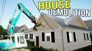 DOING DEMOLITION TO FLIP OUR NEW YOUTUBER HOUSE! - House Flipper Beta Gameplay