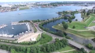 Копенгаген - аэросъёмка. Copenhagen - aerial photography. København - luftfotografering.