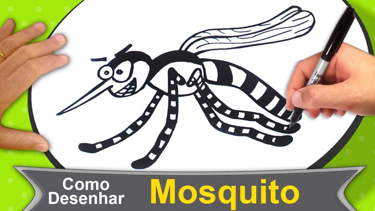 como desenhar um mosquito pernilongo insetos 138 youtube