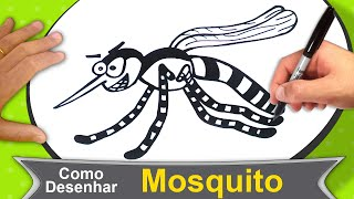 Como Desenhar um Mosquito Pernilongo (Insetos)