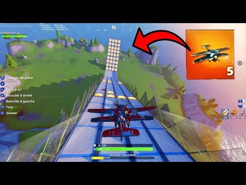 OMG LE PLUS GROS SAUT DU MONDE AVEC LE NEW AVION - MEGA RAMPE Fortnite Mode Creative !