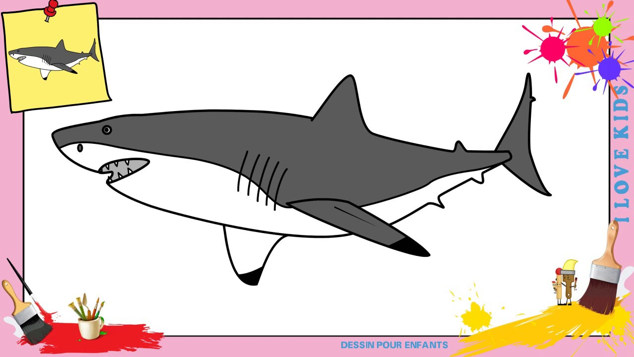 Comment dessiner un requin great white 2 facilement etape par etape youtube - Requin a dessiner ...