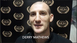 DERRY MATHEWS - 'AFTER I BEAT LUKE CAMPBELL I WANT THE WINNER OF ANTHONY CROLLA v JORGE LINARES'