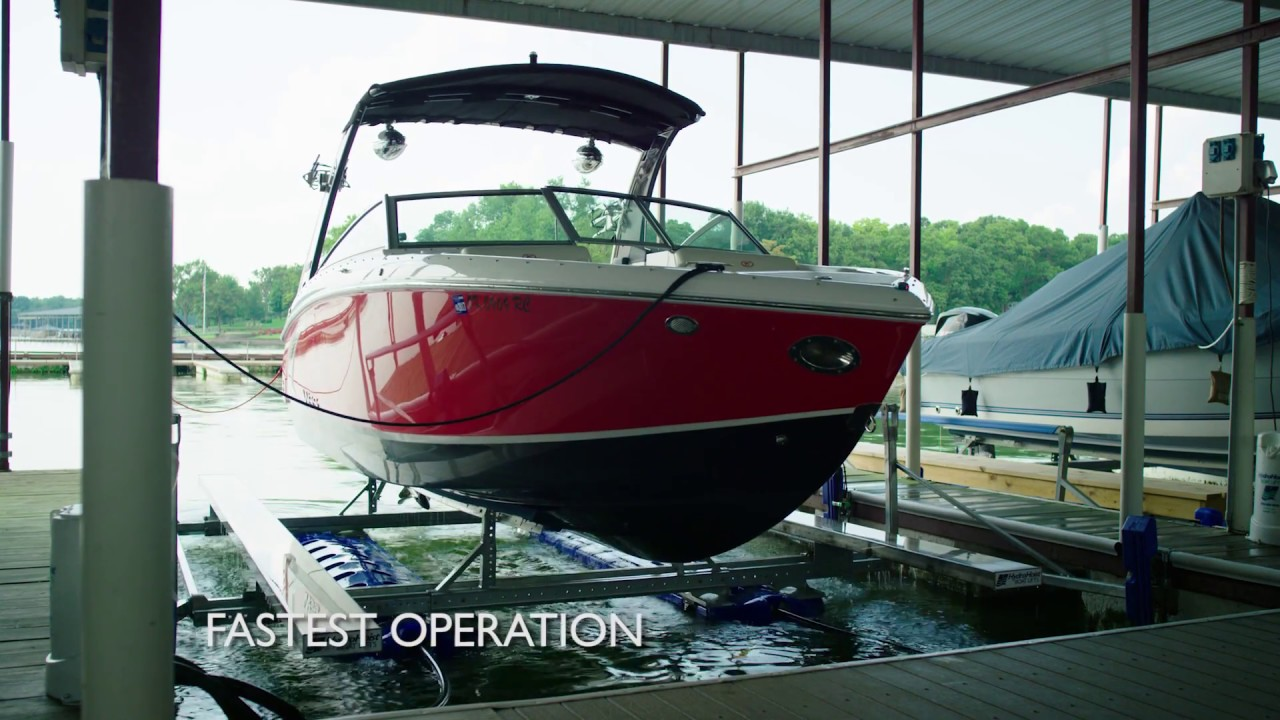 UltraLift Series - HydroHoist Boatlifts - YouTube
