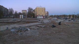 В Волгограде на месте дома, пострадавшего от взрыва газа, начали благоустройство сквера