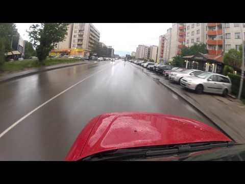 """Rain Driving """"Studentski grad"""" Sofia"""