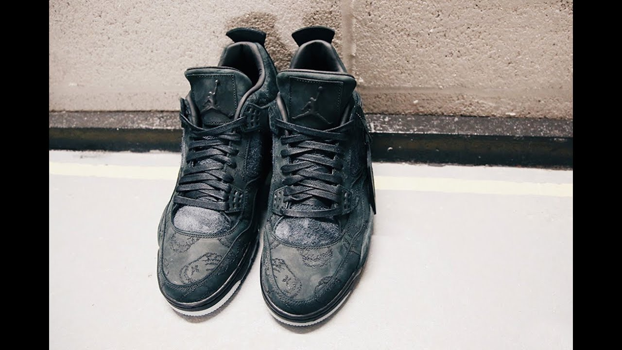 a5b5b226f85 New Release Date for Black KAWS x Air Jordan 4 - YouTube