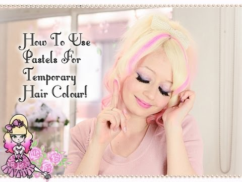 How To Use Pastels For Temporary Hair Colour! - Violet LeBeaux