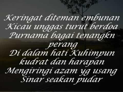 kiblatku - hazami (lirik)