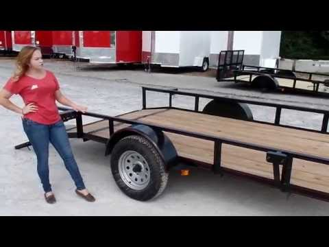 Utility Trailer 6.4'x12' Reinforced Dovetail Gate Mower Review