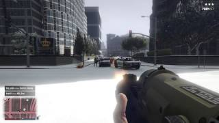 PS4 GTA Snow And FireWork Launcher In First Person