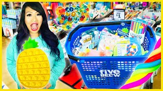 FIDGET TOY SHOPPING AT FIVE BELOW + STORE BOUGHT SLIME