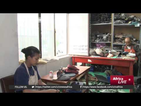 Ethiopia model moves from cat walk glamour to shoe making