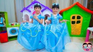 หนูยิ้มหนูแย้ม   ซินเดอเรลล่ากับแม่เลี้ยงใจร้าย Cinderella Kids Role Play