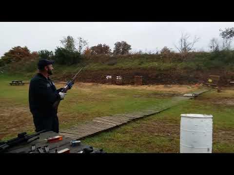 First Time Shooting His CZ 550 American Safari Rifle - 375 H&H Magnum.