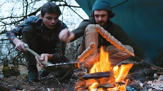 BUSHCRAFT FUN & CHILL ~bowdrill, crafts, cooking on campfire, etc.