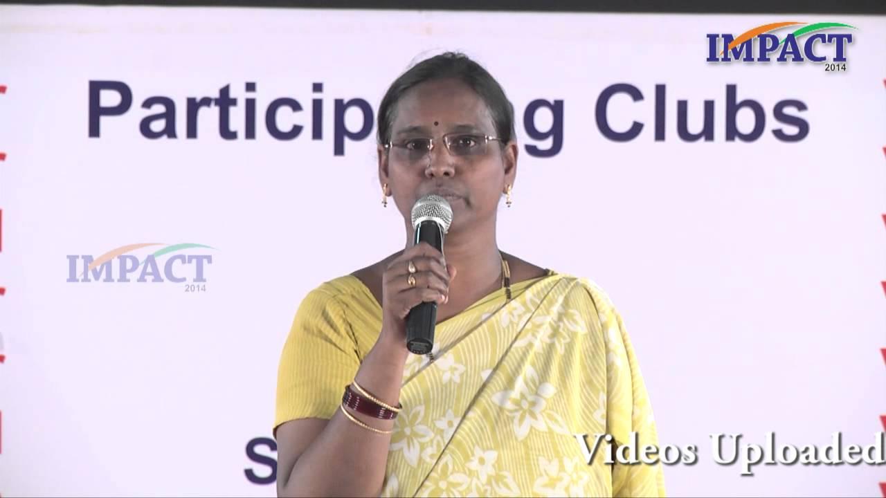 Download Madhavi Droupathi speech at IMPACT 2014