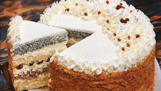 БЕСПОДОБНЫЙ Торт МОЙ КАПРИЗ Тает во рту Бюджетный Рецепт Торт Кулинарим с Таней