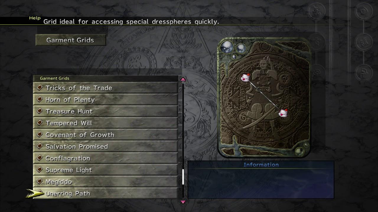 Final Fantasy X-8 : Every Garment Grid & Every Accessory