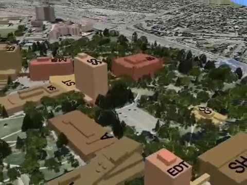 3D Video about the Main Campus of the University of Calgary -CANADA