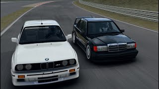 [VR] 190E 2.5-16 Evolution II vs BMW M3 E30 Evo3 Bilster Berg