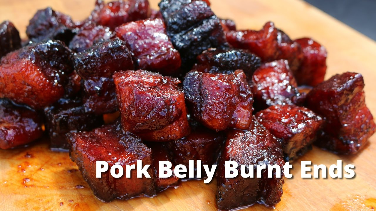 Pork Belly Burnt Ends | Smoked Pork Belly Burnt Ends on UDS Smoker