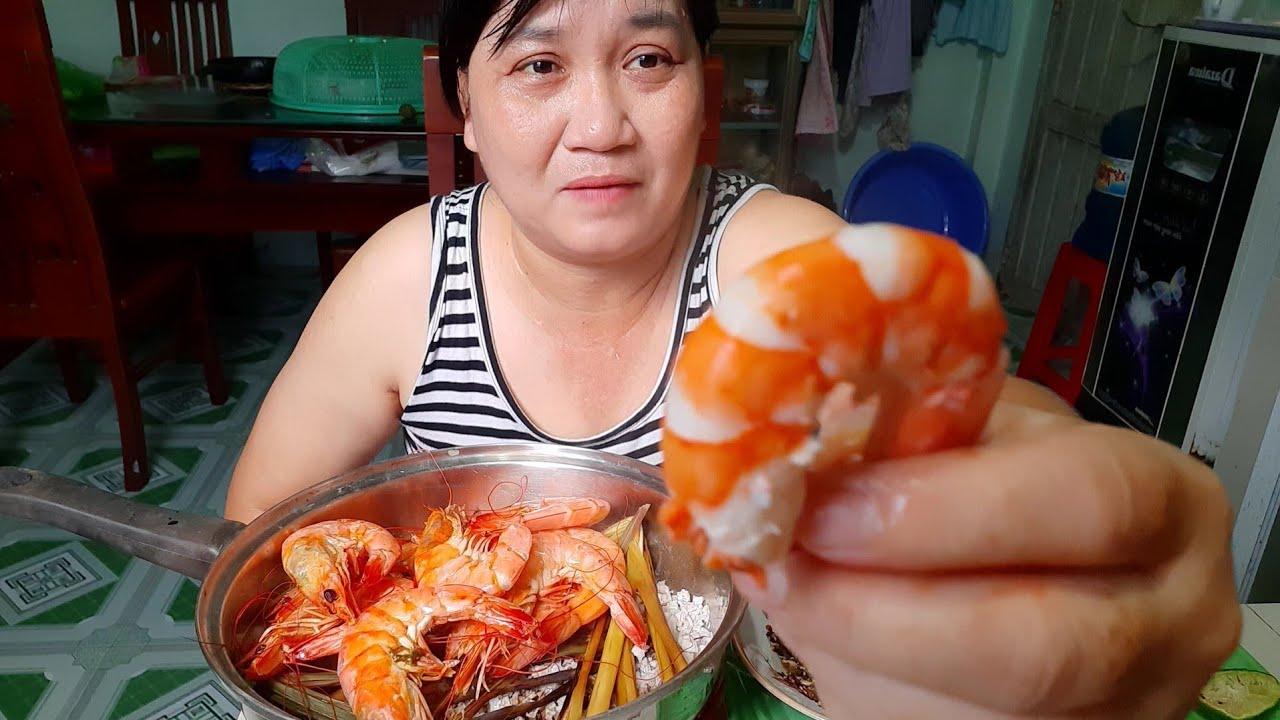 Cách làm món Tôm nổ muối Món ngon mỗi ngày Chi Âu Vlog-Shrimp Exploding salt