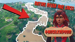 WE COVERED THE *ENTIRE* RIVER AND LOOT LAKE in Fortnite Battle Royal!