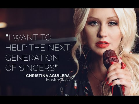Christina Aguilera teaches singing -  Masterclass Trailer 2016