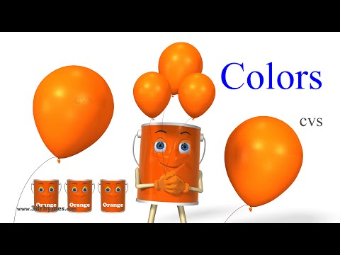 Learn Colors Song 2  3D Animation Colors Rhymes and Colors Songs for Children