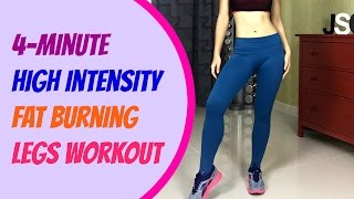 4-Minute High Intensity Fat Burning Legs Workout