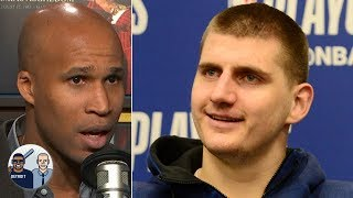 Richardson Jefferson labels Nikola Jokic as the NBA's top big man following his 37-point, nine-rebound and six-assist performance in the Denver Nuggets' ...