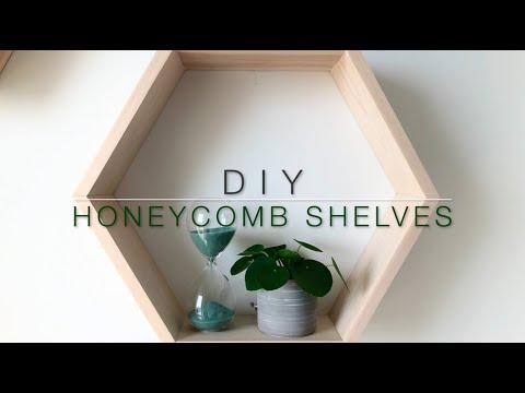 Easy how to make honeycomb shelves