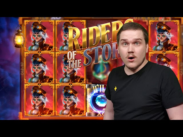 STACKED SYMBOLS.. THEY EXIST?? MEGA BIG WIN ON RIDERS OF THE STORM (Thunderkick)