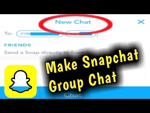 How To Make Snapchat Group Chat || Open & Create Group Chat In Snapchat