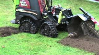Mini Ditch Witch makes cable trench for broadband 2012