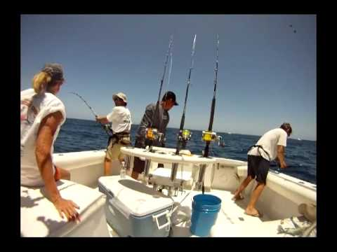 Man Jumps Overboard Fighting Marlin.wmv